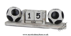 White-Football-Handmade-Wooden-Calendar