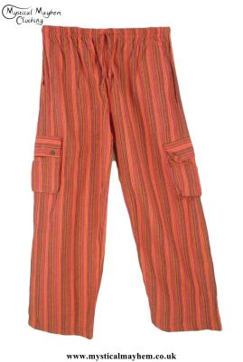 Bares-Striped-Cotton-Nepalese-Trousers-Rusty-Red
