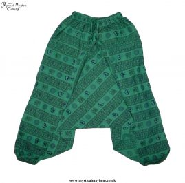 Green-Printed-Pattern-Harem-Trousers