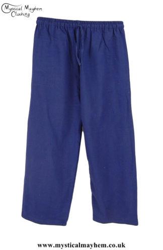 Hippy Plain Cotton Trousers