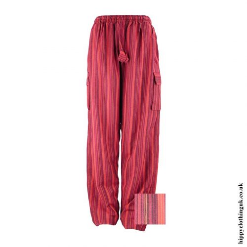 Red-Striped-Cotton-Hippy-Trousers