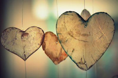 Hippy Wooden Hearts - Valentines