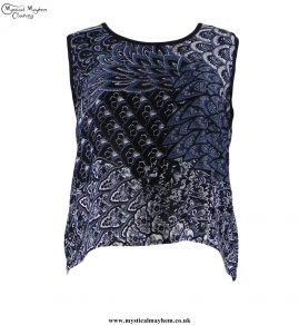 Thai Patterned Open Back Hippy Top