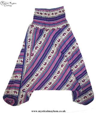 Elephant-Pattern-Hippy-Style-Harem-Ali-Baba-Trousers---Pink-and-Blue