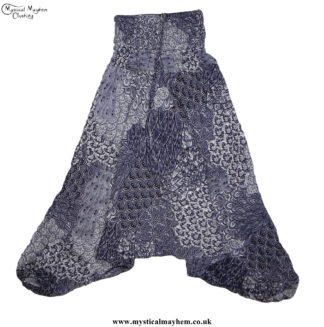 Funky-Pattern-Hippy-Style-Harem-Ali-Baba-Trousers-Black-and-White