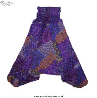 Funky-Pattern-Hippy-Style-Harem-Ali-Baba-Trousers-Purple