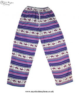 Hippy-Thai-Elephant-Printed-Drawstring-Trousers-Pink-and-Blue