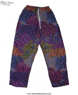 Hippy-Thai-Printed-Pattern-Drawstring-Trousers-Pink-and-Blue