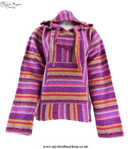 Pink-Multicolour-Mexican-Jerga-Baja-Hooded-Hippy-Festival-Top