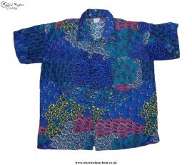 Funky-Patterned-Thai-Short-Sleeve-Shirts---Blue