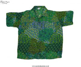 Funky-Patterned-Thai-Short-Sleeve-Shirts---Green