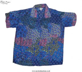 Funky-Patterned-Thai-Short-Sleeve-Shirts---Light-Blue