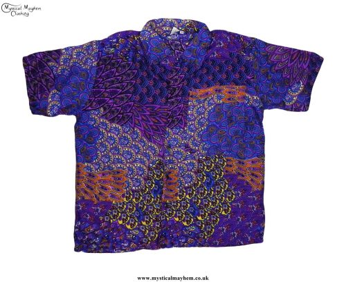 Funky-Patterned-Thai-Short-Sleeve-Shirts---Purple