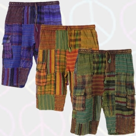 Long Cotton Patchwork Festival Shorts