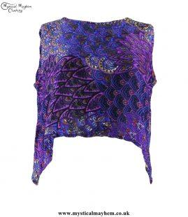 Purple Thai Patterned Open Back Hippy Top