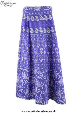 Purple Long Cotton Throw Wrap Hippy Festival Skirt