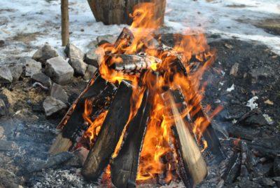 Tepee Style Fire