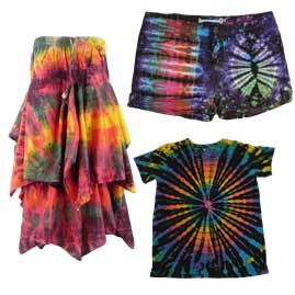 Non Authentic Hippy Clothing on The High Street - Tie Dye Clothing