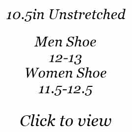 10.5in | Men Shoe Size 12-13 | Women Shoe Size 11.5-12.5