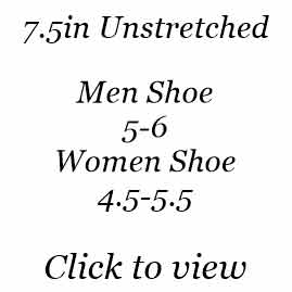 7.5in | Men Shoe Size 5-6 | Women Shoe Size 4.5-5.5