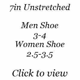 7in | Men Shoe Size 3-4 | Women Shoe Size 2.5-3.5