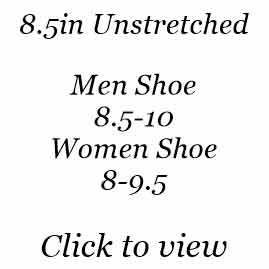 8.5in | Men Shoe Size 8.5-10 | Women Shoe Size 8-9.5
