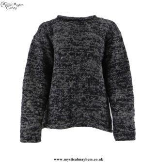 Black-&-Grey-Woollen-Jumper