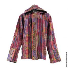 Red-Fleece-Lined-Gheri-Cotton-Jacket