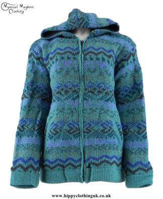 Turquoise-Nepalese-Wool-Fleece-Lined-Festval-Hippy-Jacket