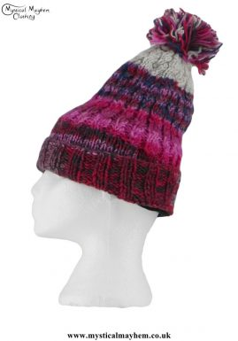 Pink-Long-Wool-Pixie-Hippy-Festival-Bobble-Hat