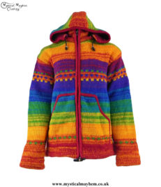 Rainbow-Wool-Fleece-Lined-High-Neck-Hippy-Festival-Jacket-with-Removable-Hood