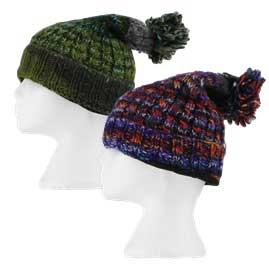 Wool Hippy Bobble Hats