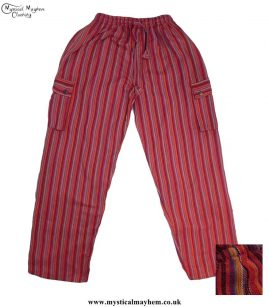 1Striped-Cotton-Nepalese-Hippy-Festival-Trousers-Red-Colour-Mix