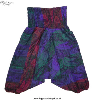 Cashmilon-Ali-Baba-Hippy-Festival-Trousers-Purple,-Green,-Red
