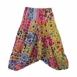 Why We Go Potty for Patchwork Trousers - Elephant patchwork Harem Ali Baba Trousers