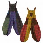 Hippy Dungarees | Festival Dungarees - Om Print Dungarees