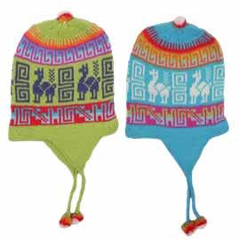 Peruvian Chullo Ear Flap Alpaca Wool Hats