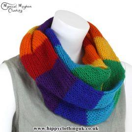 Rainbow Wool Hippy Festival Snood