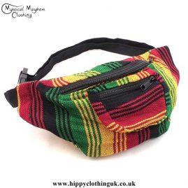 Rasta Coloured Cotton Hip Bag