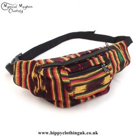Rasta Coloured Cotton Hip Bag