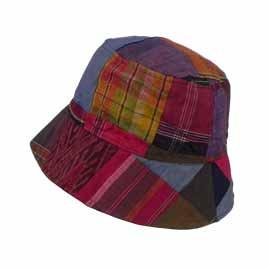 Silk Multicoloured Patchwork Floppy Hats