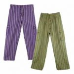 Hippy Cargo Trousers - Striped Cargo Trousers