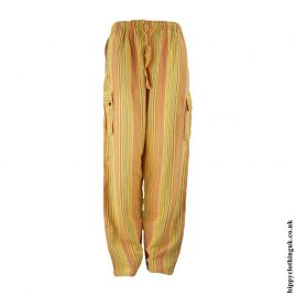 Yellow-Striped-Cotton-Hippy-Trousers