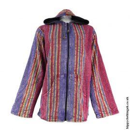 Acid-Wash-Fleece-Lined-Hooded-Jacket