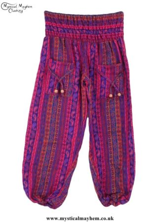 Funky Patterned Acrylic Hippy Festival Trousers