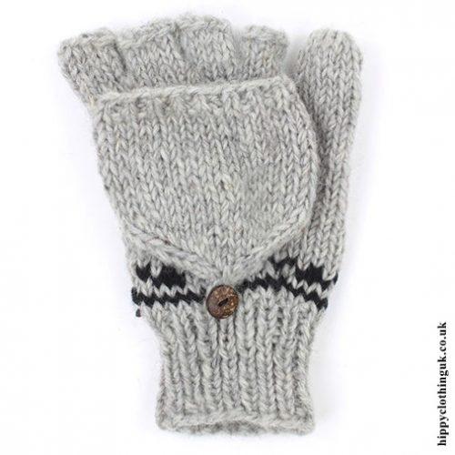 Grey 2 in 1 Gloves