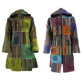 Long Cotton Patchwork Jackets