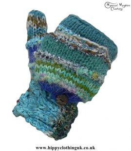 Nepalese-Two-in-One-Fingerless-and-Mitten-Wool-Gloves-Turquoise