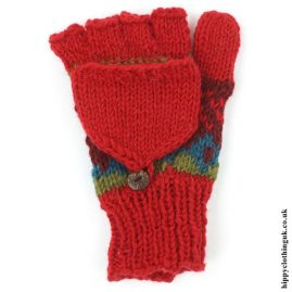 Red 2 in 1 Gloves