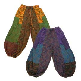 Baggy Patchwork Hippy Om Trousers